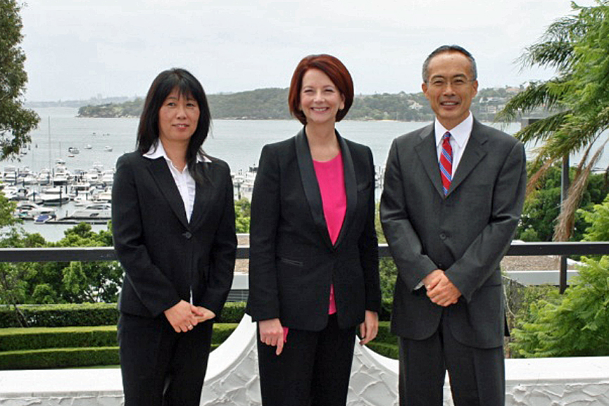 Former Prime Minister Gillard's visit to the Consul-General's residence 2